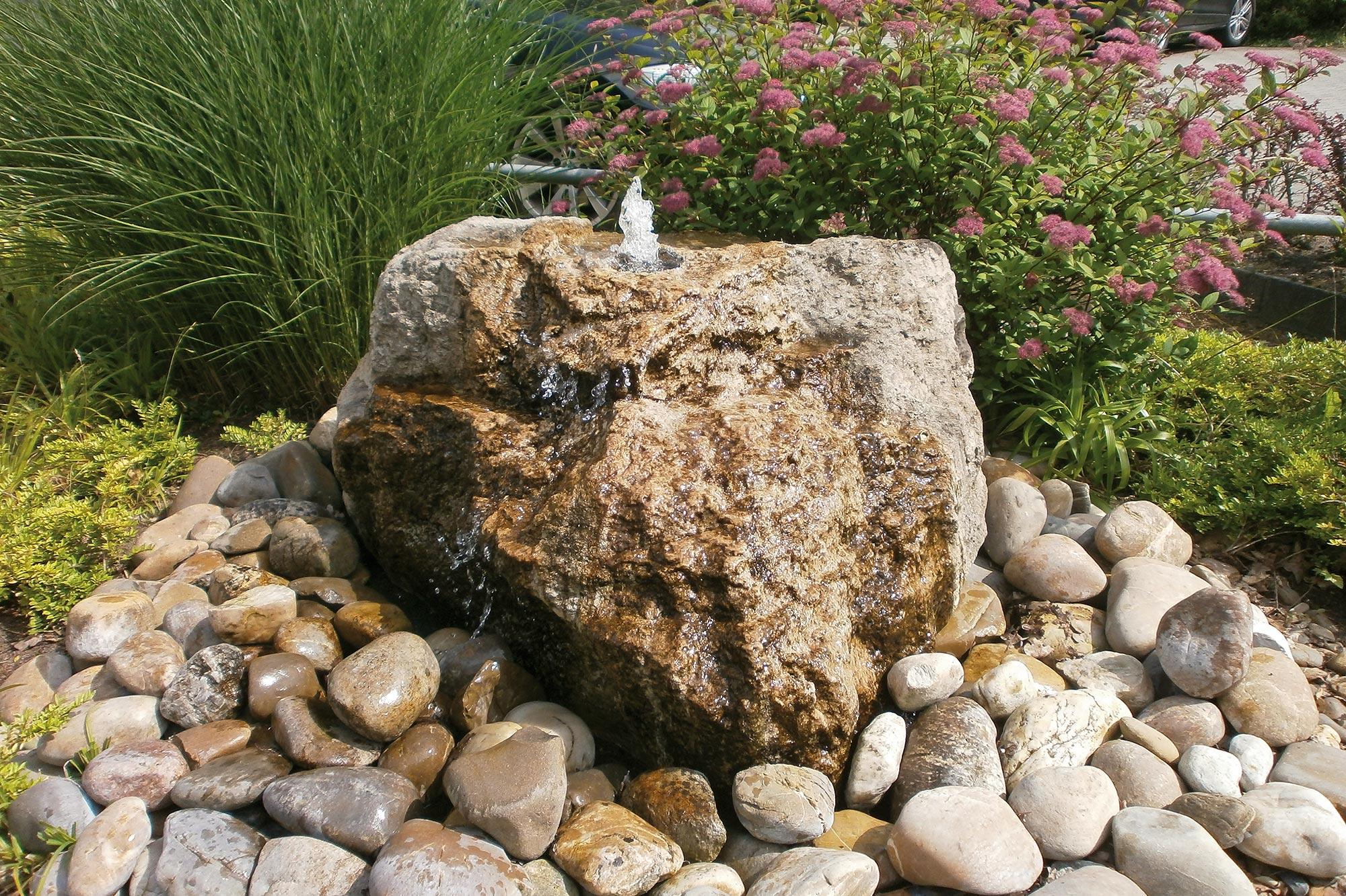 Gartenbrunnen Materialien Gartenbrunnen Wasserspiel Stein Garten