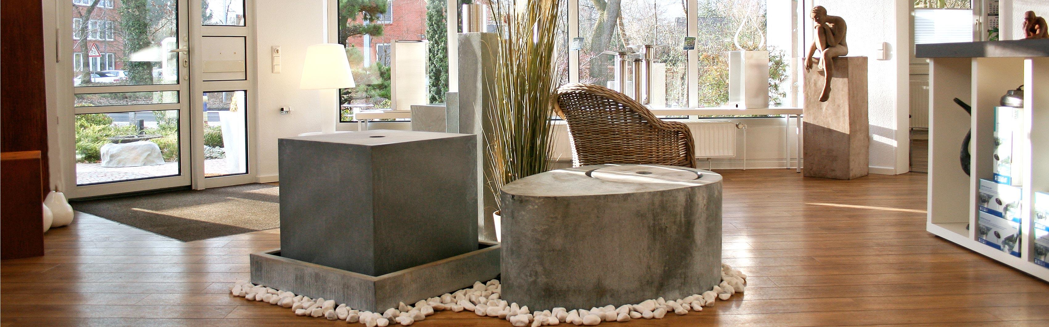 Gartenbrunnen Showroom anschauen Beratung Service