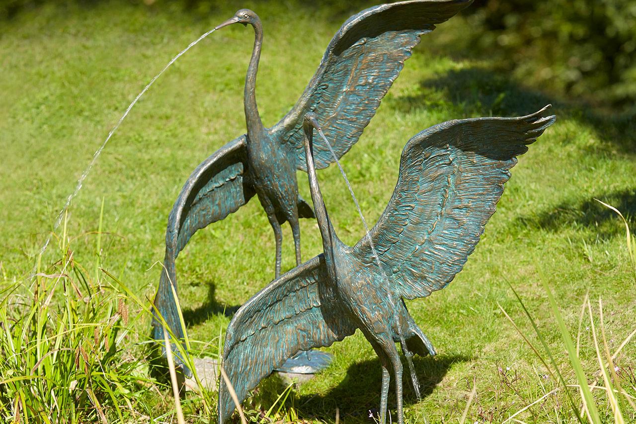 Bronze-Gartenbrunnen Gartenspringbrunnen aus Bronze Bronze-Wasserspeier