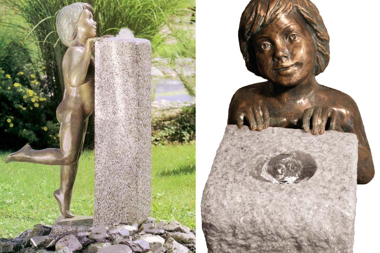 Bronze-Gartenbrunnen Bronzefigur GArten