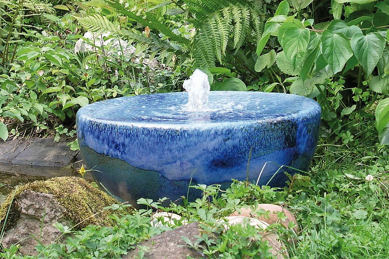 Keramik-Gartenbrunnen Keramikbrunnen Säulenbrunnen Wasserobjekt Künstlerbrunnen fabige Brunnen winterfest