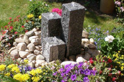Granit-Gartenbrunnen kleiner Brunnen für den Garten Steinbrunnen