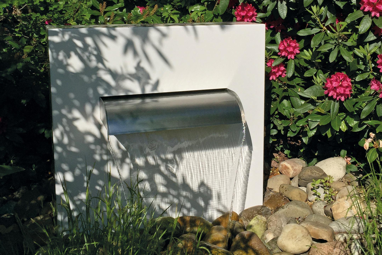 Garten-Wasserfall Alu-Gartenbrunnen Wasserfallbrunnen GFK-Becken